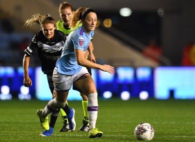 Campbell in action in the Women's Champions League last year.