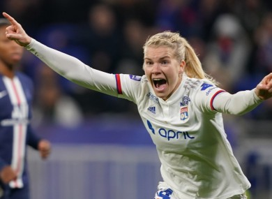 Women's football star Ada Hegerberg.