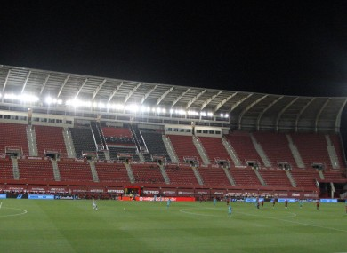 The incident took place at Son Moix during the Mallorca and FC Barcelona match.