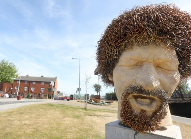 Statue of Luke Kelly on Dublin's Sheriff Street.