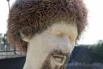 Luke Kelly statue on Guild St in Dublin.