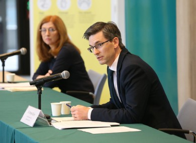 Acting Chief Medical Officer Dr Ronan Glynn at the Department of Health briefing last night.