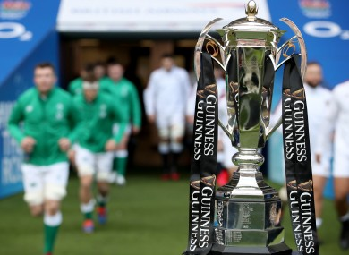 The Six Nations trophy.