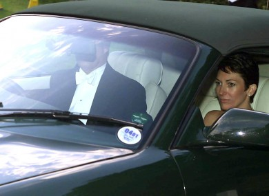 The Duke of York leaving a wedding with Ghislaine Maxwell in 2000.