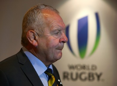 Re-elected World Rugby chairman Bill Beaumont.