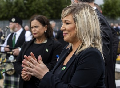 Deputy First Minister Michelle O'Neill during the funeral of Bobby Storey at Milltown Cemetery in west Belfast.