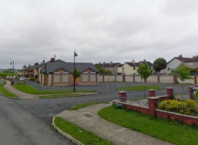 The incident happened in Clontygora Court in Dundalk