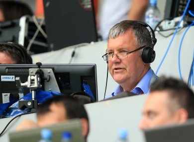 ITV commentator Clive Tyldesley.