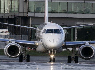 File image of an aircraft at Dublin Airport earlier this year.