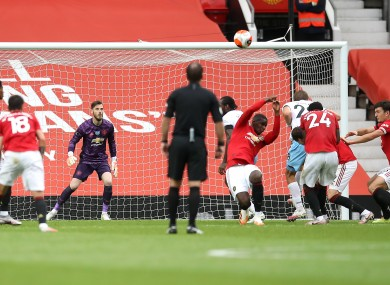 Paul Pogba concedes a penalty in the first half