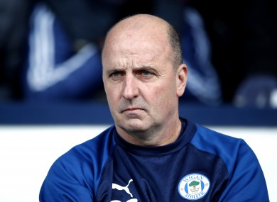 Wigan manager Paul Cook.
