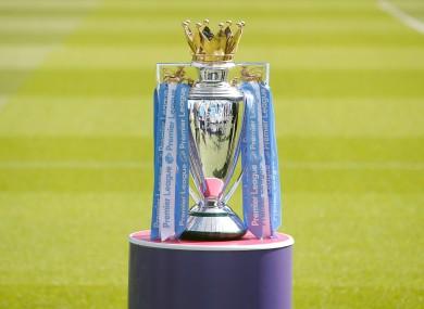 The Premier League trophy (file pic).