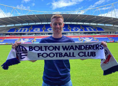 Eoin Doyle was officially unveiled as a Bolton Wanderers player this afternoon.