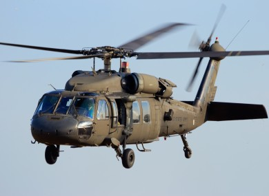 Stock photo of Blackhawk helicopter