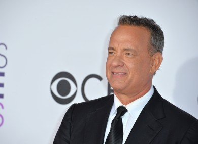 Hanks at the People's Choice Awards in 2017.