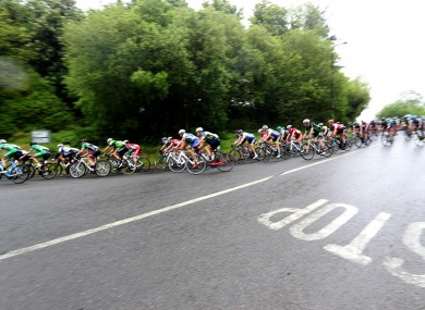 The Rás approaching Naul in 2018.