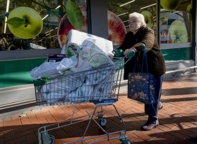 Shoppers in Melbourne.