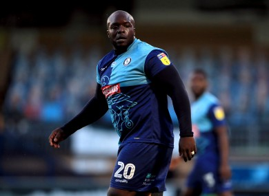 Adebayo Akinfenwa during the Sky Bet League One play-off semi-final.