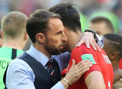 Greece is the word: Southgate has backed his central defender.