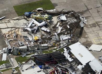 Storm damage in Louisiana.