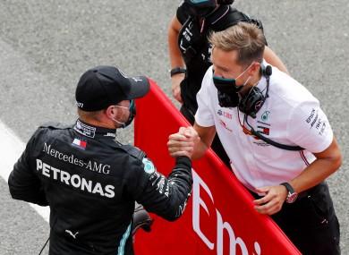 Mercedes-AMG Petronas' Valtteri Bottas after qualifying.