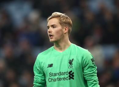 Liverpool goalkeeper Caoimhín Kelleher.