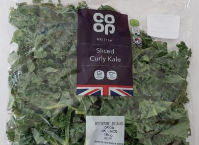 CO OP sliced curly kale.