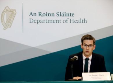 Acting Chief Medical Officer Dr Ronan Glynn (file photo)