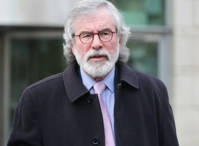 Former Louth TD and Sinn Féin leader Gerry Adams.