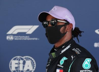 Front row start: Lewis Hamilton.