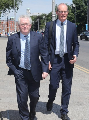 Former Attorney General Seamus Woulfe going into a Cabinet meeting in June with now Minister for Foreign Affairs Simon Coveney.