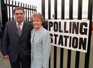 John Hume and his wife Pat voting in the Good Friday referendum in 1998