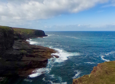 A section of the coast of Kerry Head.