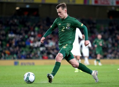 Lee O'Connor pictured during his Republic of Ireland senior debut against New Zealand last November.