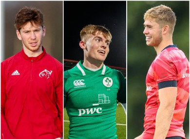 Healy, Flannery and Crowley will hope to earn their Munster stripes in the season ahead.