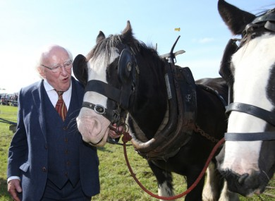 File image of Michael D Higgins at the National Ploughing Championships in 2017.