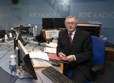 O'Rourke in an RTE studio last year.