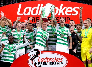 Celtic are aiming for a historic 10th successive league title.
