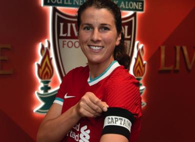 Niamh Fahey is Liverpool's new captain.