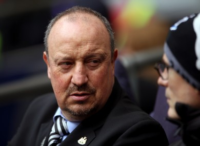 Rafa Benitez pictured during his time as Newcastle manager.