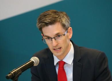 Dr Ronan Glynn at a press briefing on Monday.