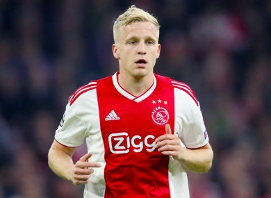 Van De Beek has agreed a five-year contract.