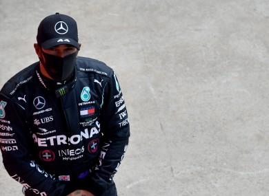 Drama: Lewis Hamilton.