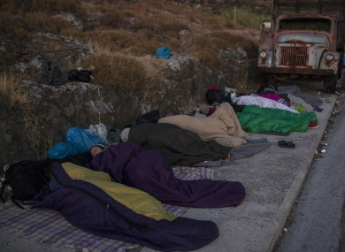 People sleep rough following the fire.