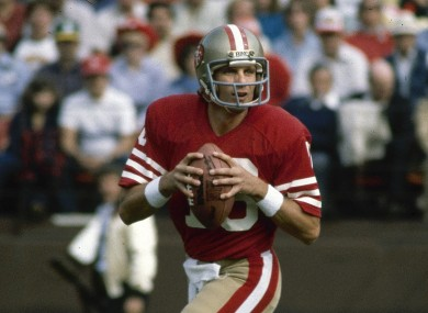 Ex-NFL star Joe Montana (file photo).