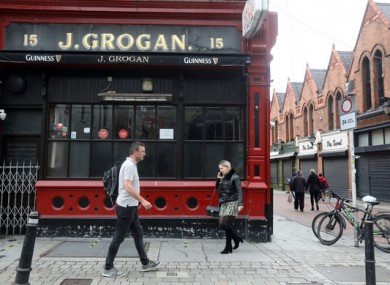Grogan's pub in Dublin City Centre.