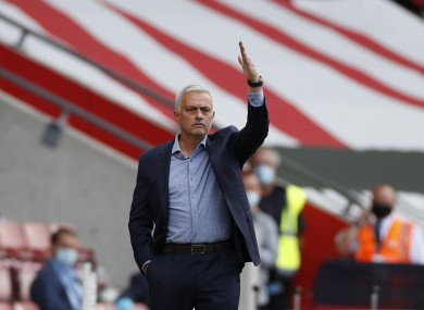 The Special One salutes Son and Kane after Spurs win 5-2 today.