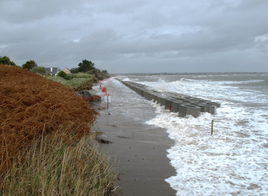 Residents claim the barrier erected by Fingal County Council is ineffective to combat coastal erosion.