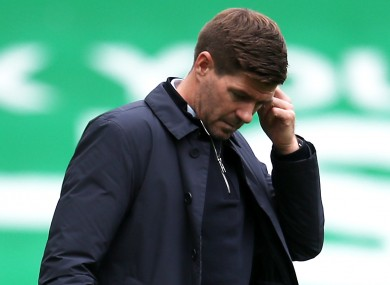 Gerrard's frustrations boiled over at full-time.