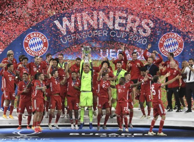 Bayern won in front of 15,500 fans in the Puskas Arena.
